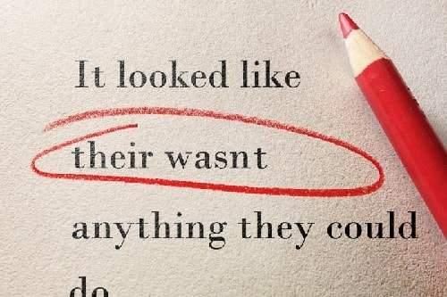 اشتباهات رایج گرامر
